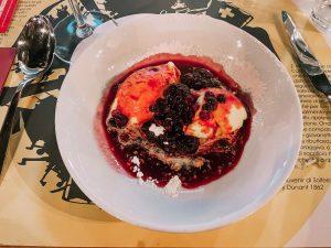 un ottimo dolce provato presso il JHD Dunant Hotel di Castiglione Delle Stiviere