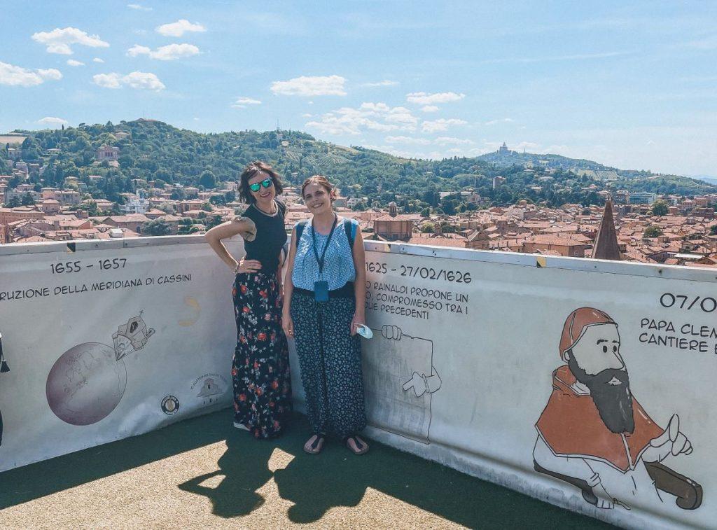 in compagnia di Sara, la mia guida nella visita alla Basilica di San Petronio e nel sottotetto