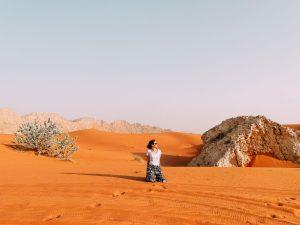 Nonostante le alte temperature, è stato splendido sedersi sulle dune del deserto durante ilo dune bashing