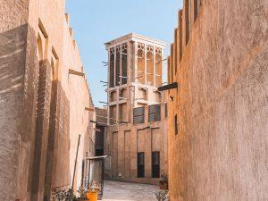 le torri del vento sono la vera peculiarità di Al Fahidi quartiere storico di Dubai