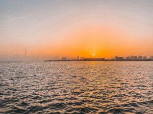 il tramonto a Dubai è un'emozione da vivere