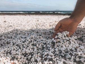 la spiaggia dei popcorn a Fuerteventura