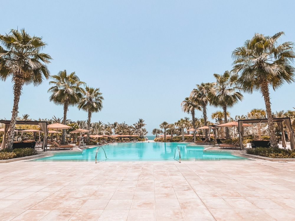 una delle piscine di Caesars Palace, davvero un luogo splendido e rilassante