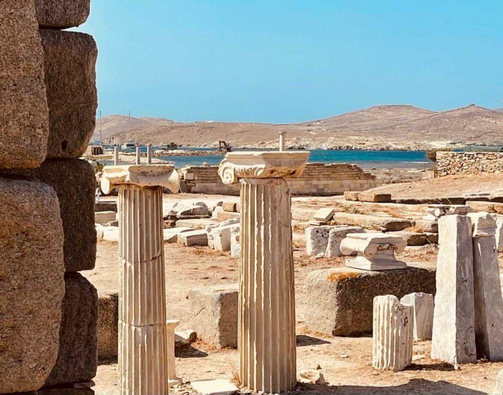 il parco archeologico dell'isola di Delo è uno dei più importanti della Grecia