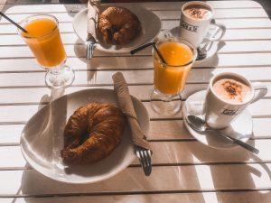 la mia colazione a Tenerife presso una caffetteria del centro