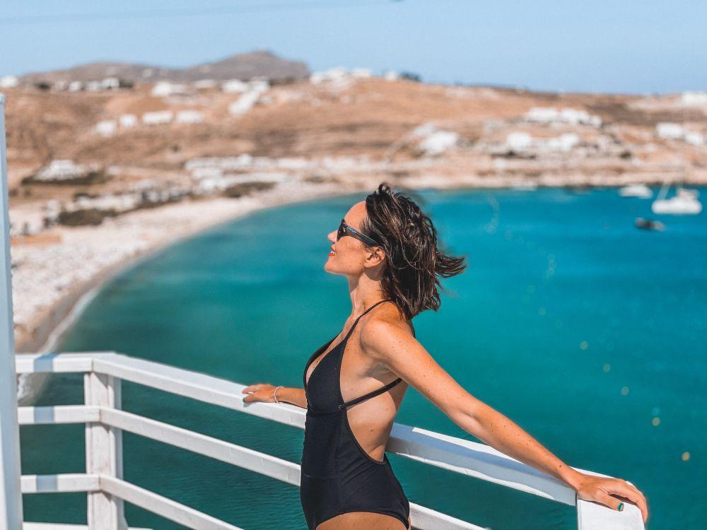 la splendida vista dal resort Pietra e Mare, luogo perfetto dove alloggiare a Mykonos