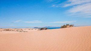 la distesa di sabbia delle dune di Corralejo