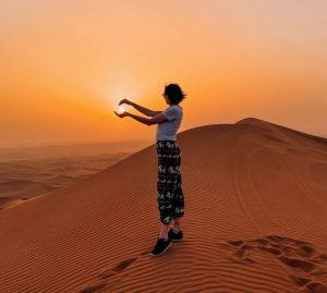 il tramonto nel deserto è davvero un'esperienza imperdibile
