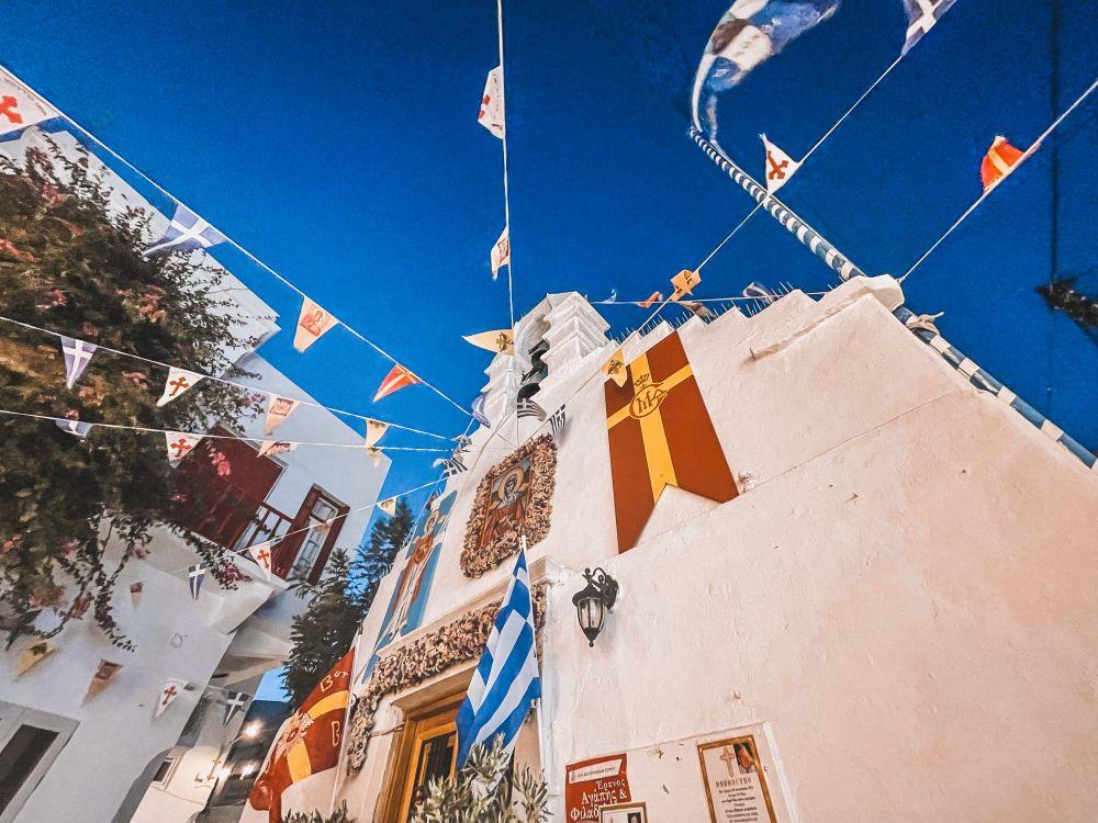uno scorcio del centro abitato di Mykonos Town