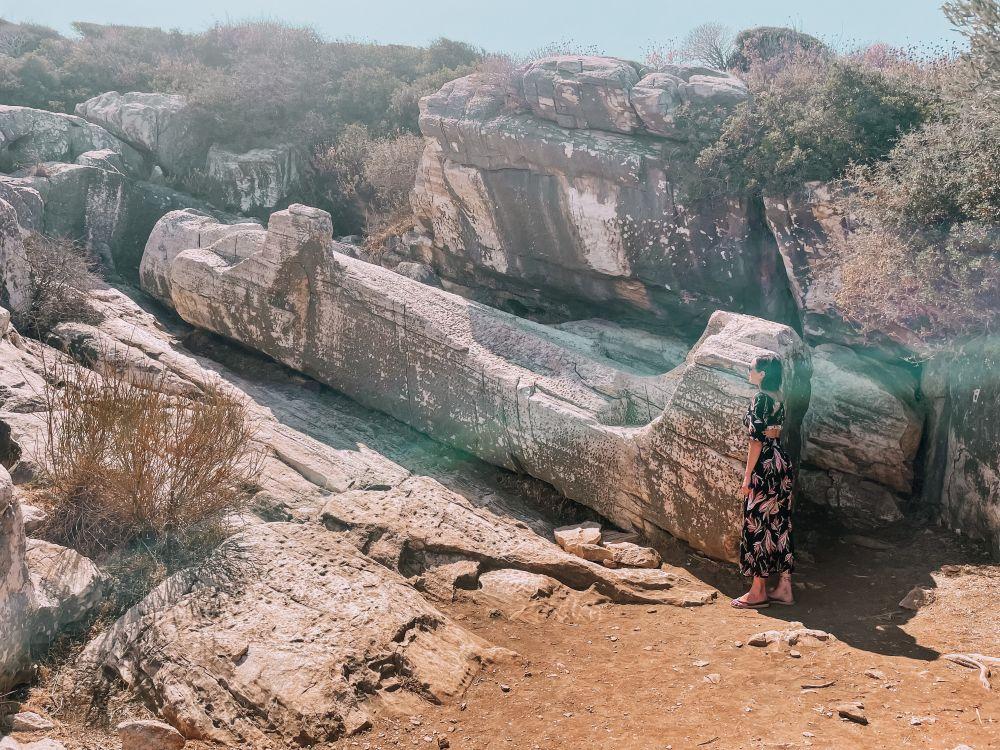 il Kouros di Apollonas a Naxos