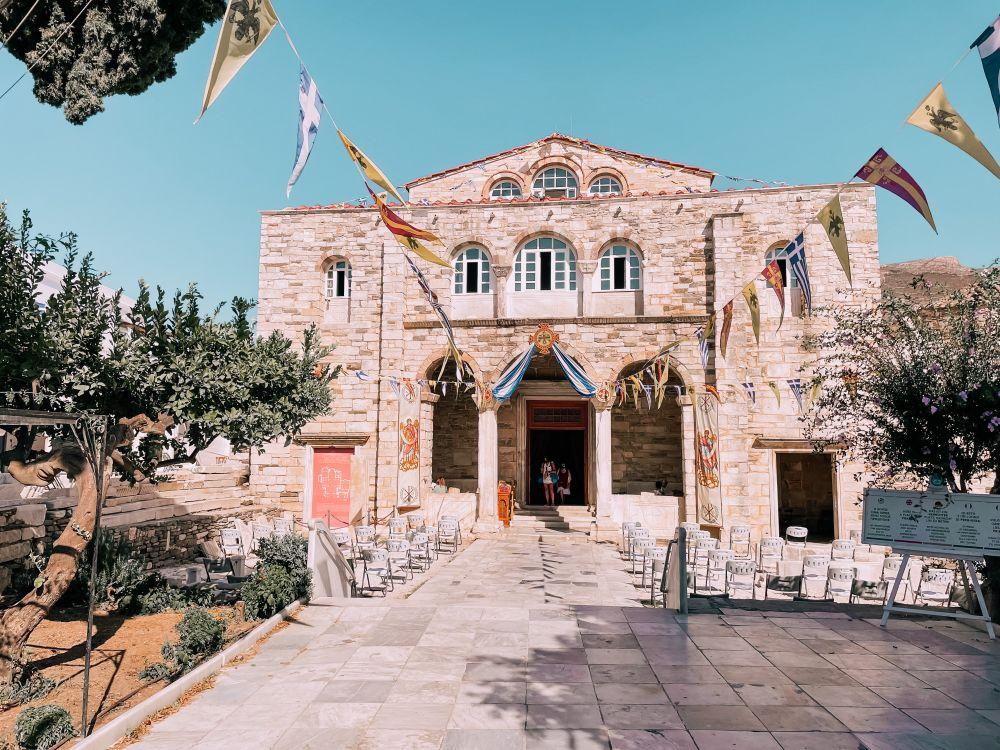 la splendida chiesa di Panagia di Ekatontapiliani sull'isola di Paros, una delle più belle di tutta la Grecia