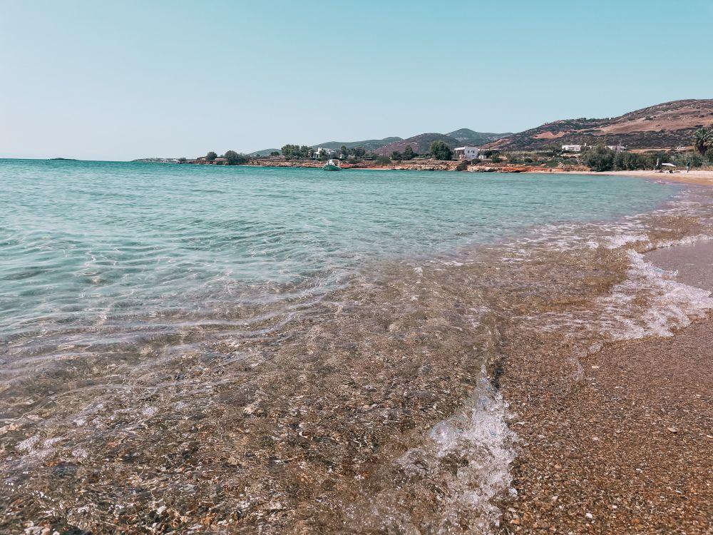 la spiaggia di Panagia, tra le più belle di Antiparos