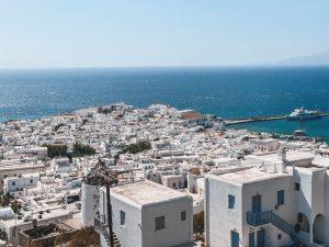 Mykonos Town vista dall'alto