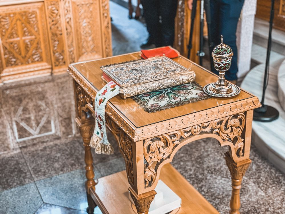 l'altare del matrimonio greco ortodosso